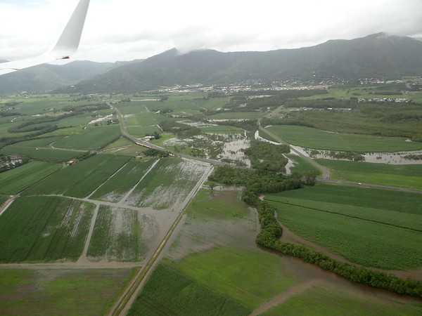 The farmland was saturated. We'd learn later that they had 30 inches of rain in the last 7 days. I we were arriving in the rainy season.
